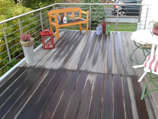 Balkonboden aus Holz
