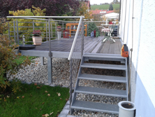 Aluminium Balkontreppe