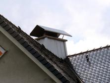 Edelstahl-Kamindach