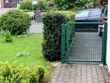 Gartentür aus Gittermatte