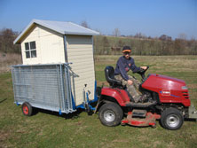 Leichter Transport des Tierzauns